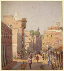 The Lahore Bazaar near the Delhi Gate (Punjab). 23 January 1879